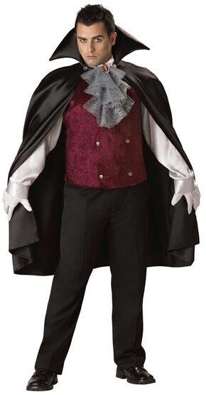 Mens Plus Size Classic Vampire Costume
