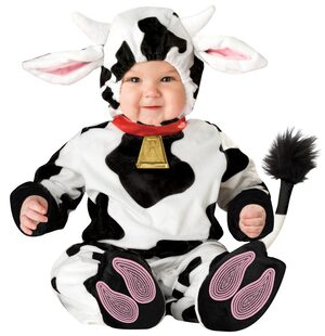 Toddler Mini Moo Baby Cow Costume