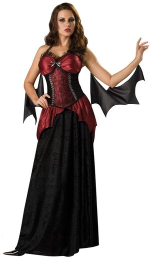 Womens Gothic Vampira Sexy Vampire Costume