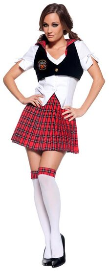Reformed Sexy School Girl Costume