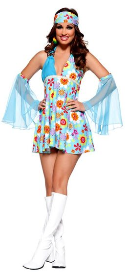 Womens Free Spirit Sexy Hippie Costume