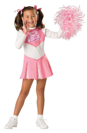 Kids Pink Cheerleader Costume