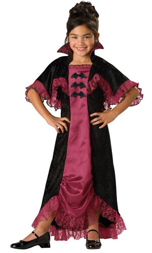 Girls Midnight Vampiress Kids Costume