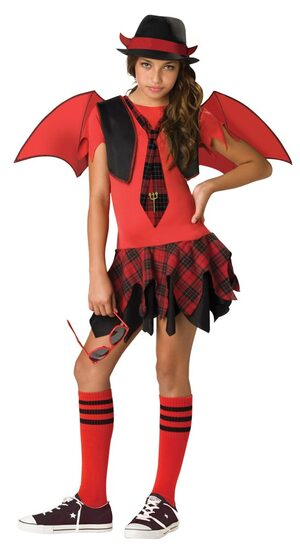 Tween Delinquent School Girl Devil Costume