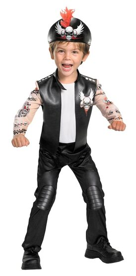 Kids Biker Bad Boy Toddler Costume