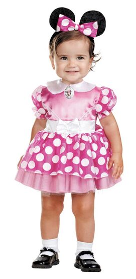 Infant Pink Clubhouse Minnie Mouse Baby Costume