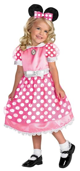 Toddler Pink Clubhouse Minnie Mouse Kids Costume