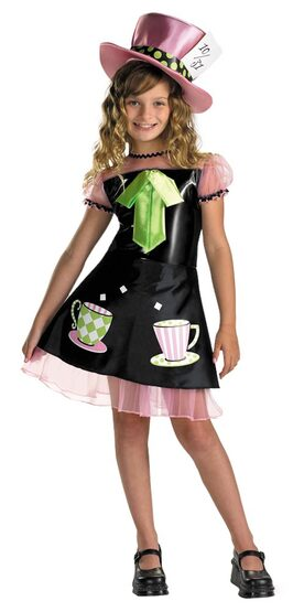 Girls Mad Hatter Kids Costume