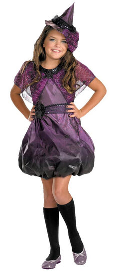 Kids Pretty Spider Web Witch Costume