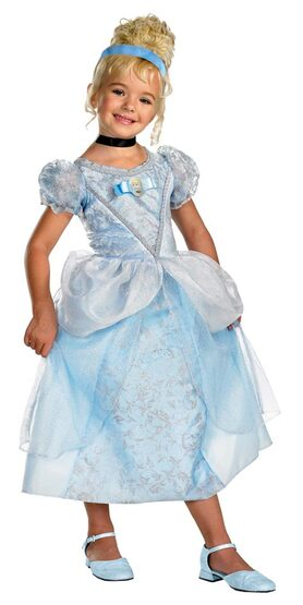 Kids Disney Deluxe Toddler Cinderella Costume