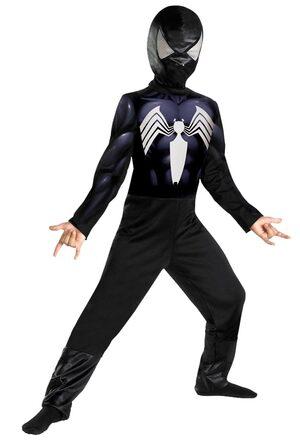 Kids Classic Black Spiderman Costume