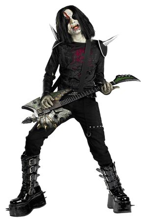 Boys Metal Mayhem Rotten Rocker Zombie Costume