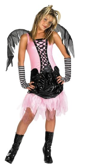 Kids Tween Dark Graveyard Fairy Costume