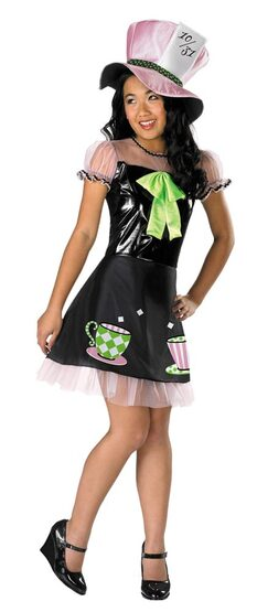 Tween Girls Sassy Mad Hatter Costume