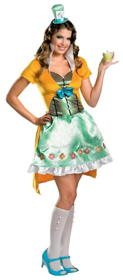 Womens Sassy Mad Hatter Adult Costume