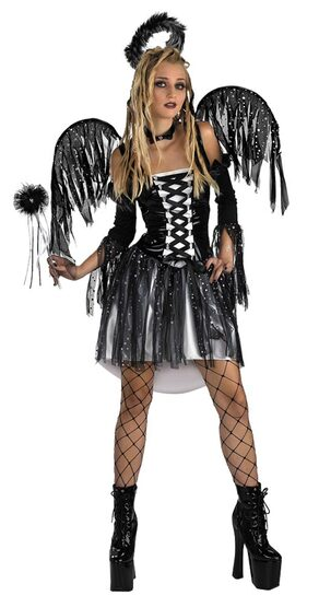 Womens Dark Fallen Angel Costume