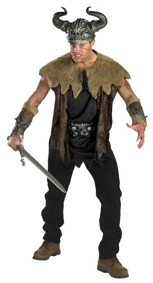Mens Deluxe Adult Nordic Viking Costume