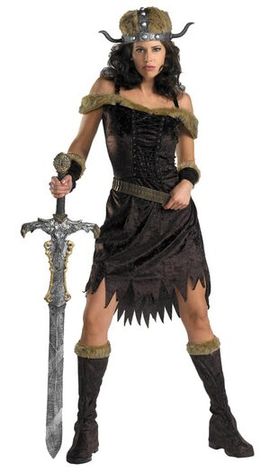 Womens Nordic Babe Adult Viking Costume