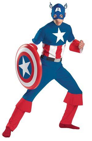 Mens Classic Adult Captain America Costume