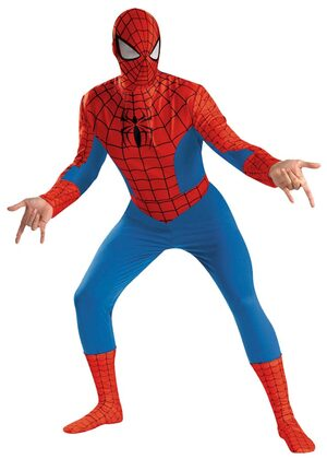 Mens Deluxe Adult Spiderman Costume