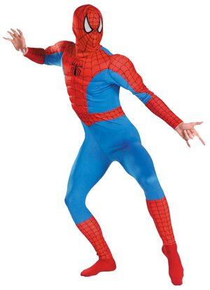 Classic Adult Spiderman Muscle Costume