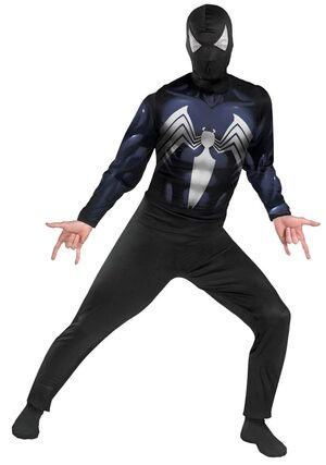 Classic Adult Black Spiderman Costume