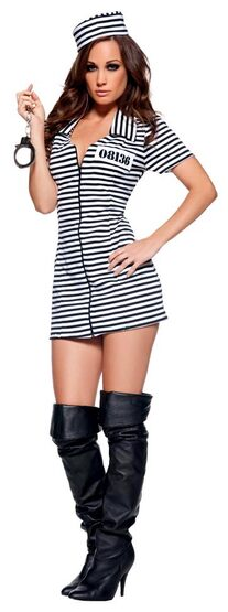 Miss Behaved Sexy Convict Costume