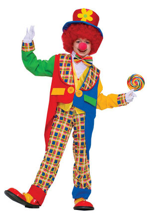 Boys Clown Around Town Kids Costume