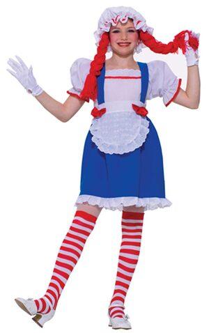 Girls Rag Doll Kids Costume