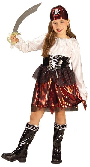 Caribbean Pirate Girl Kids Costume