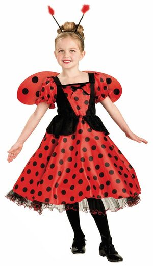 Girls Royal Ladybug Princess Kids Costume