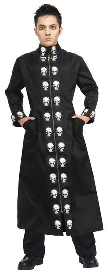 Teen Boys Skull Duster Costume