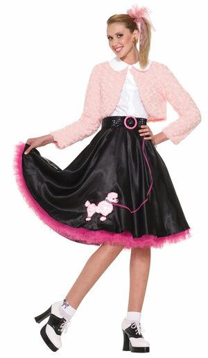 Womens Poodle Skirt Sweetheart Adult Fifties Costume