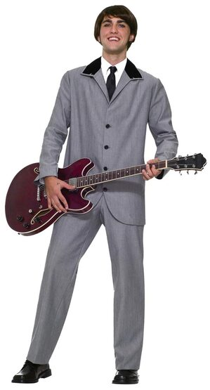 Mens British Invasion 60s Rockstar Costume