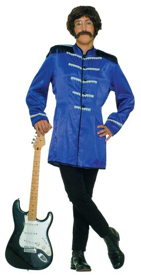 Mens Blue British Explosion Adult 60s Costume
