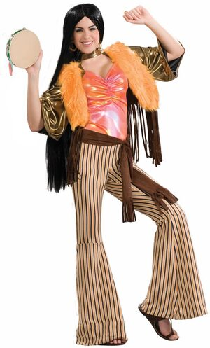 Womens Hippie Singing Babe Adult 60s Costume