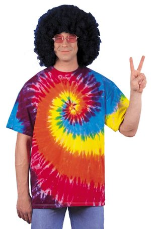 Adult Mens Tie Dye Hippie Shirt