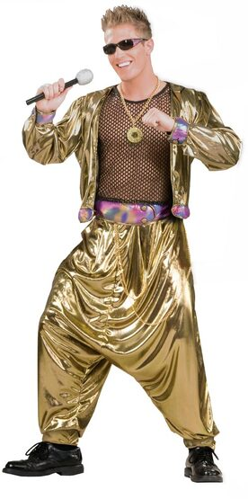 Adult 80s Video Super Star Mens Costume