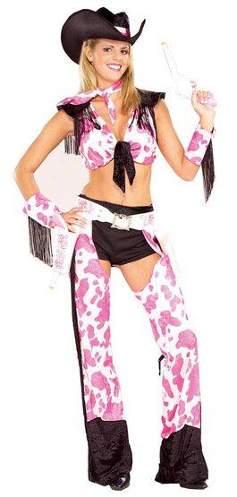 Womens Gun Slinging Sexy Cowgirl Costume