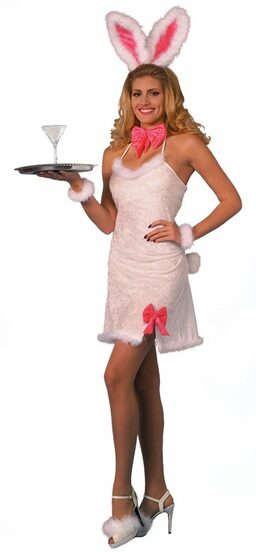 Sexy Furry Pink Cocktail Bunny Costume