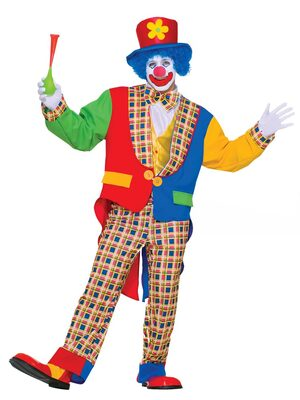 Mens Clown on the Town Adult Circus Costume