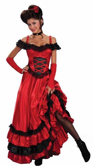 Womens Saloon Sweetie Adult Costume