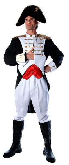 Mens Napoleon French Military Costume