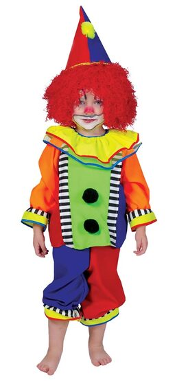 Toddler Spanky Stripes Clown Costume