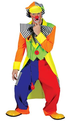 Mens Spanky Stripes Adult Clown Costume