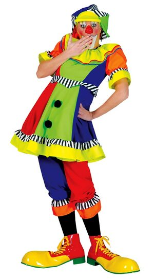 Womens Spanky Stripes Adult Clown Costume