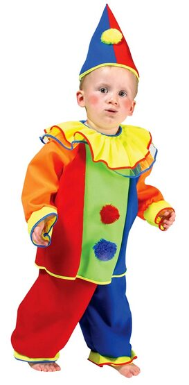 Baby Bobo Toddler Clown Costume