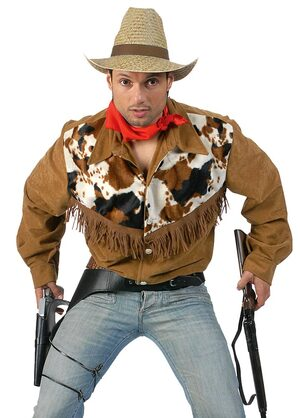 Adult Mens Cowhide Cowboy Costume