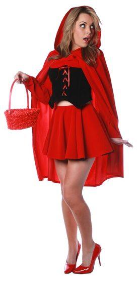 Sexy Velvet Little Red Riding Hood Costume