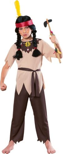 Boys Indian Warrior Kids Costume